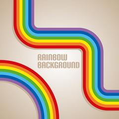 Simple rainbow background. Vector illustration