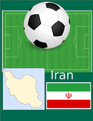 Iran soccer football sport world flag map