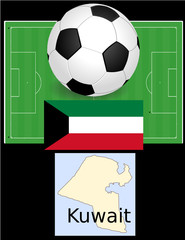 Kuwait soccer football sport world flag map