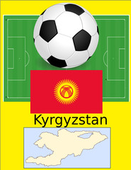 Kyrgyzstan soccer football sport world flag map