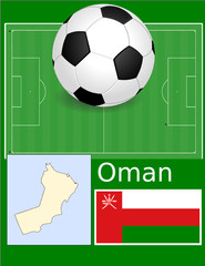 Oman soccer football sport world flag map
