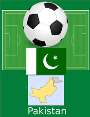 Pakistan soccer football sport world flag map
