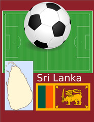 Sri Lanka soccer football world flag map