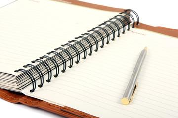 Pen and opened agenda