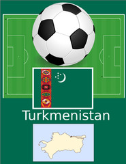 turkmenistan soccer football sport world flag map