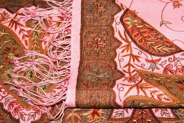 Elegant handmade shawl with embroidery