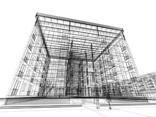 casa edificio palazzo rendering 3d illustrazione tratto