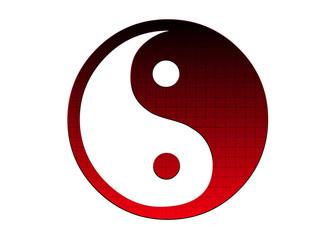 ying yang red