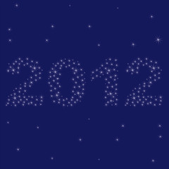 2012 New year greeting card. vector illustration