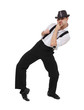 Attractive gentleman dancing