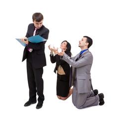 Office life. Business team posing