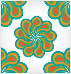abstract color background with floral design