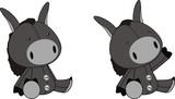 donkey plush cartoon poster
