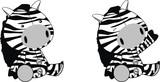 zebra plush cartoon poster