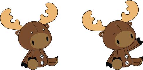 reindeer baby cartoon