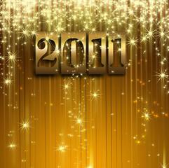 stars descending golden 2011 background