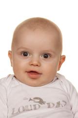 Gesicht eines staunenden Babys