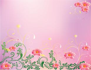 abstract flower Illustration vector spring summer