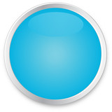 Blue Glass Button - Blank