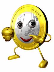Euro Figur mit Sparschwein