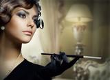 Fototapeta kobieta - retro - Kobieta