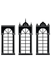 Architectural elements - Silhouettes of medieval windows