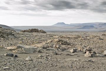 Desierto frío en Islandia