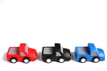 automobili giocattolo di legno