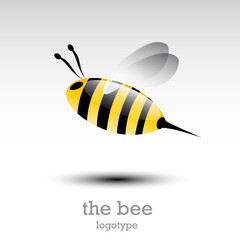 Logo flying bee (vector)