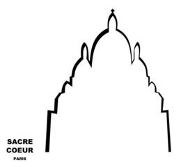 Sacré Coeur Paris silhouette