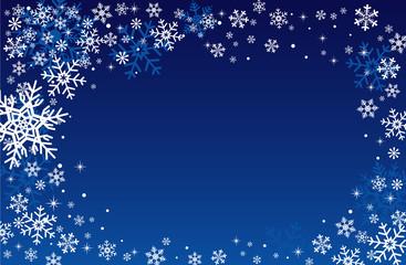 冬の背景素材-雪の降る夜-