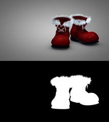 Weihnachtsmannstiefel freigestellt