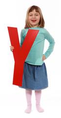 """Letter """"Y"""" girl"""