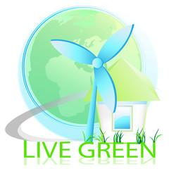 live green - windrad