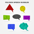 Polygon speech bubbles. Vector web elements.
