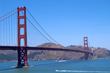 Golden Gate Bridge with Marin County, San Francisco