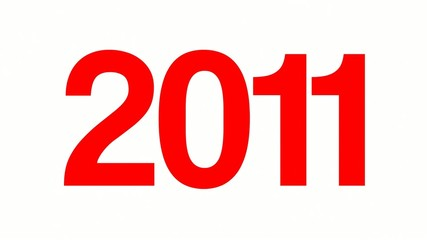 2011 New Year  words collage animation