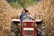 Rural people at corn harvesting