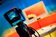 TV studio - Video camera viewfinder