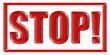 Stempel rot STOP!