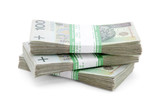 Fototapete Geld - Stapel - Geld / Kreditkarte