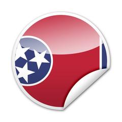 Pegatina bandera Tennessee con reborde