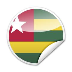 Pegatina bandera Togo con reborde