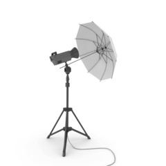 3d studio light with umbrella