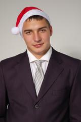 christmas businessman handsome