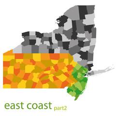 usa east coast vector map - part 2