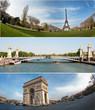 Triptyque Parisien-Tour Eiffel-Pont Alexandre 3-Champ Elysées