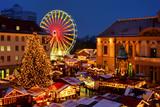 Fototapety Magdeburg Weihnachtsmarkt - Magdeburg christmas market 01