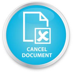 Process Flow Icon - Cancel Document