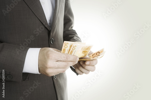 Payoff -Businessman with Money